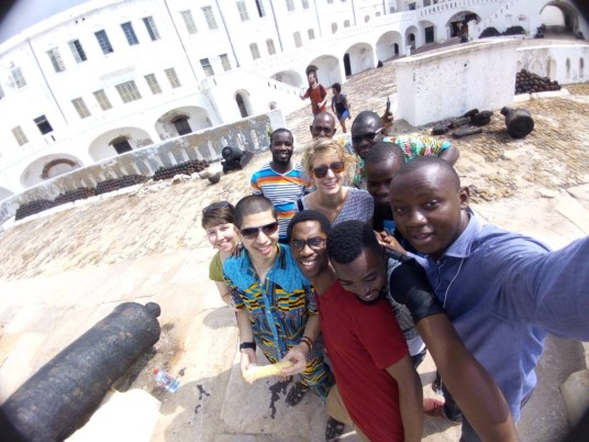 Future FSE teachers from AIT gathered at Cape Coast