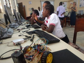 At the Raspberry Pi lab in Kpalimé